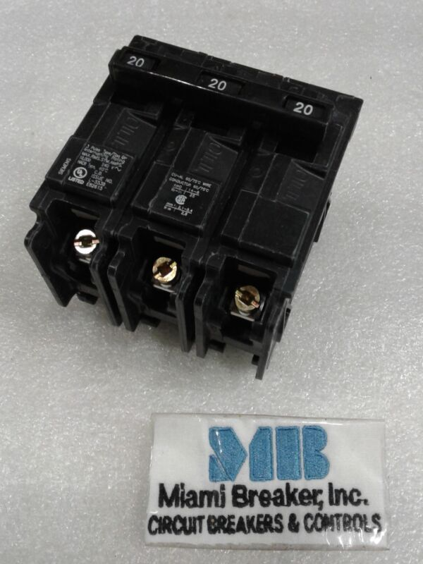 Q320 Siemens Circuit Breaker 3 pole 20 Amp 240V NEW