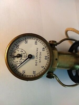 Vintage Negus Patent Log- Taffrail - BrassGauge - Maritime Sailing etc.