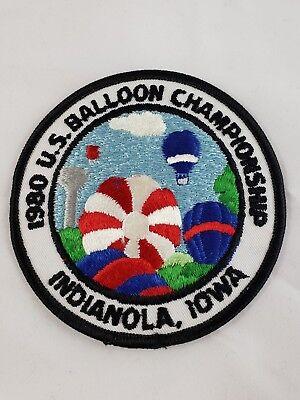 Vintage U.S, Hot Air National Balloon Championship Patch INDIANOLA IOWA IA 1980
