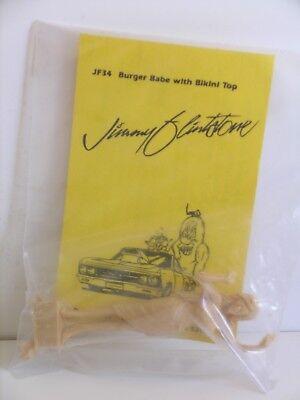 "Jimmy Flintstone Miniatures----1/25 Scale---""Burger Babe with Bikini Top"""
