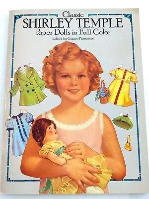 Vintage Classic Shirley Temple Doll Book in FULL COLOR Unused Grayce Piemontesi