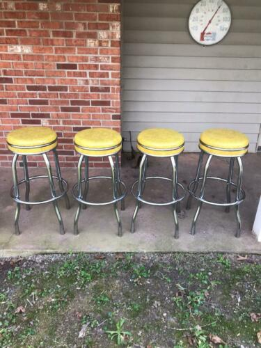4 Vintage Cosco Swivel Stools Bar/ Soda Fountain 50