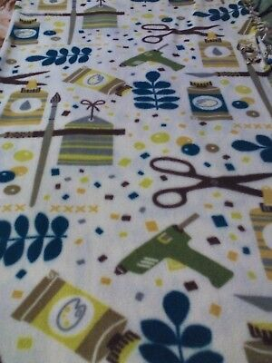 handmade crafts tied fleece blanket 73 L x 56 W one layer multi color