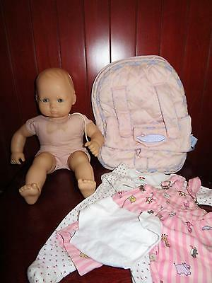 American Girl Doll BITTY BABY Pleasant Co Blonde Blue Zoo Clothes Backpack LOT