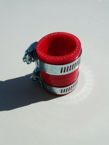 Honda ATC250R exhaust pipe clamp coupler red