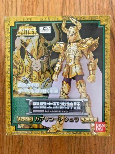 Bandai GOLD Saint CAPRICORN SHURA CLOTH MYTH NEW SEALED HOLIDAY USA