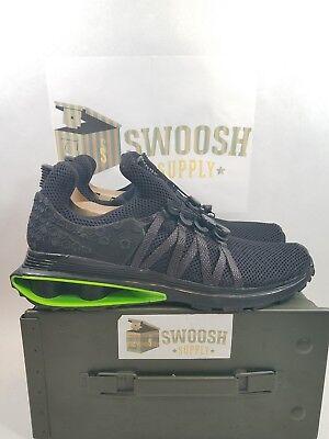 Nike Shox Gravity Luxe Men s Size 11.5 Shoes Black Green Strike AR1470 003 54cc7f2b6