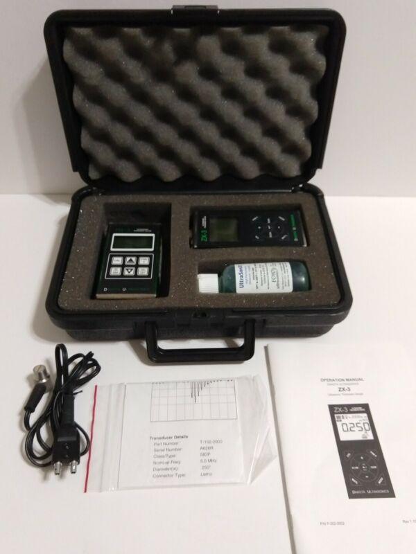 DAKOTA Ultrasonic MX-3 Flaw Detector & ZX-3 Fixed-Velocity Thickness Gauge Kit