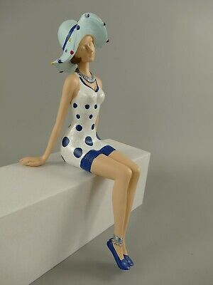Dekofigur Lady im 50ziger Jahre Style Maritime Badepuppe Pin Up Girl Skulptur