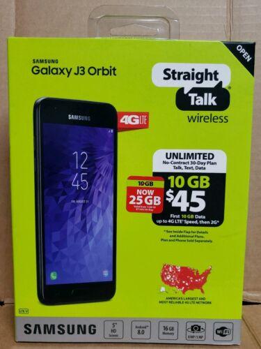 """BRAND NEW Samsung Galaxy J3 Orbit STRAIGHT TALK  5""""Screen 16GB 4G LTE"""