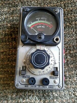 Vintage Simpson Wavemeter Modulation Indicator