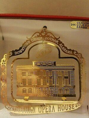 Opera House Dothan Alabama  Brass Christmas Ornament
