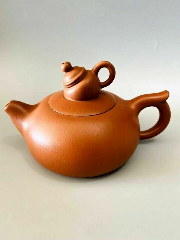 Chinese Exquisite Yixing Zisha Clay Teapot Handmade Carved 350CC AZS001