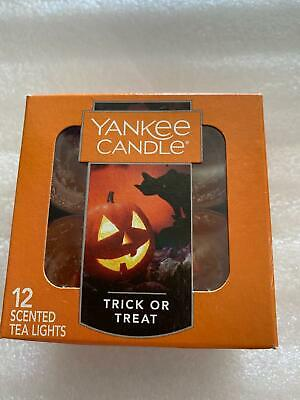 Yankee Candle Trick or Treat Halloween Holiday Scented Tea Lights Boxed set 12