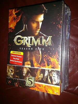 Grimm: Complete Series Seasons 1-5 (1 2 3 4 5) DVD Collection BRAND NEW