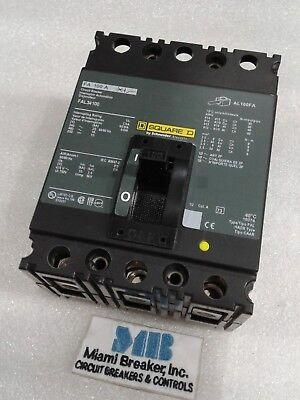 Fal34100 Square D Circuit Breaker 3 Pole 100 Amp 480v New In Box
