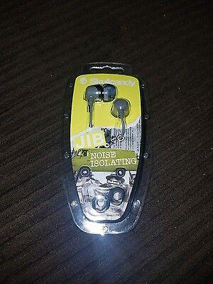Brand New Skullcandy Jib Noise Isolating In Ear Earbud Headphone Black Grey Nib