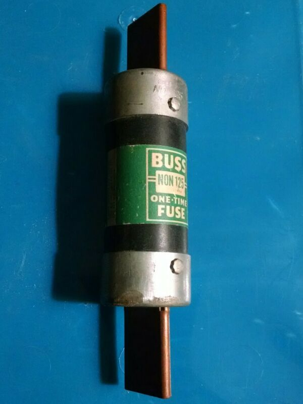 Buss NON 125 125 Amp one-time fuse vintage used