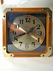 Vintage Spartus Square Quartz Wall Clock 7011