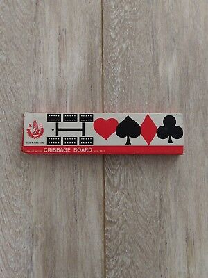 WOODEN CRIBBAGE BOARD INLAID WITH PEGS Hong Kong Free P&P