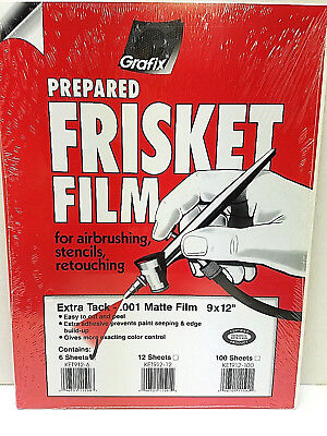 Grafix Frisket Film (Grafix Extra Tack Frisket Matte Film Sheets 9-Inch-by-12-Inch, Pack of 6 KET9126)