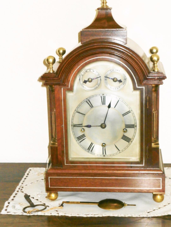 Winterhalder & Hoffmier Mahogany Musical Bracket Clock Serviced & Overhauled