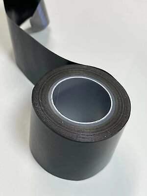 2 X33ft Black Teflon Tape Ptfe 180um Thicker 662 Adhesive High Temp Fiberglass