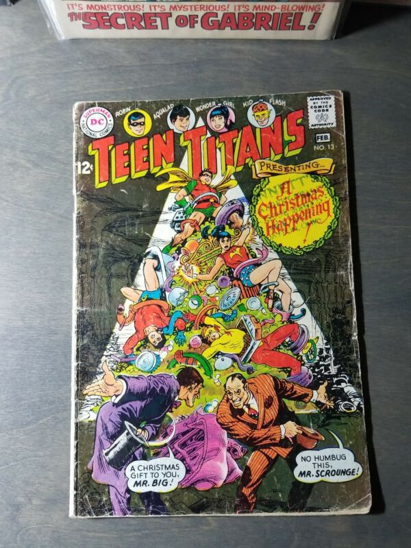 "DC TEEN TITANS 13 (1968) -"" A Christmas Happening   VG"