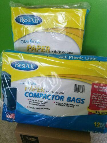 2 Packs Clean kitchen trash compactor bag 12 pack  heavy dut