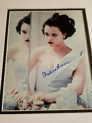 Christina Ricci Autographed 8X10 Matted Photo Perfect Condition Coa