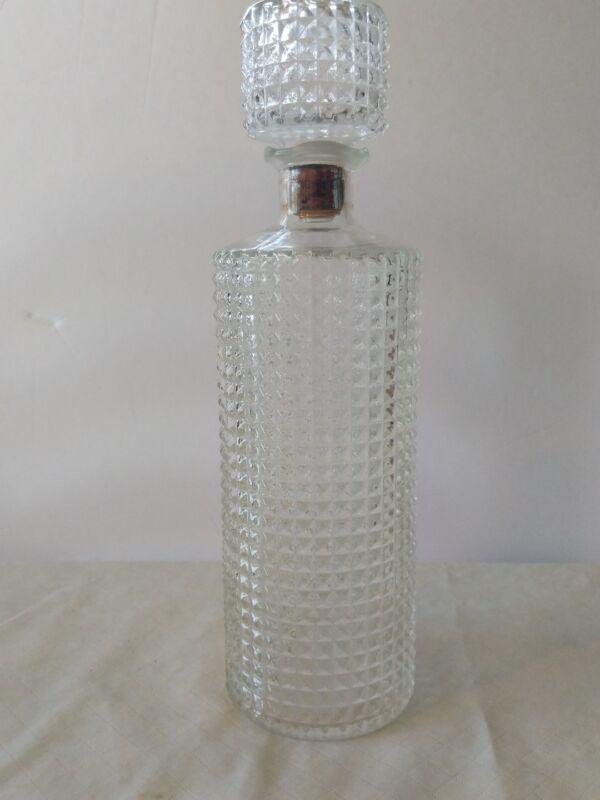 Vintage Glass Bottle With Cork Stopoer