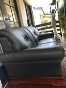 REAL LEATHER SOFA FOR SALE Rydalmere Parramatta Area Preview