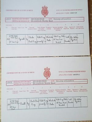 THE KRAY TWINS BIRTH CERTIFICATES. THE KRAYS. LEGEND. CRIME. FREE UK POST.
