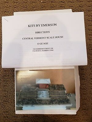 O GAUGE KITS BY EMERSON CENTRAL VERMONT SCALE HOUSE. NEW.  for sale  Shipping to Canada