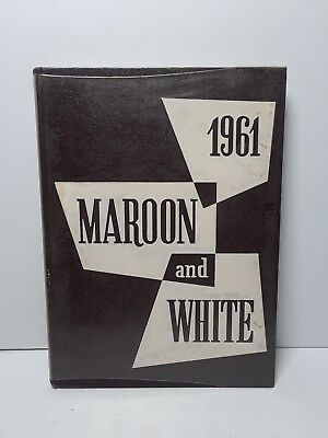 VTG 1961 Sioux City Central High School Iowa Maroon White Yearbook