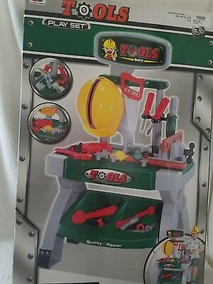 Tools Play Set for Children 3+ with Hard Hat - Kids Play Hard Hat