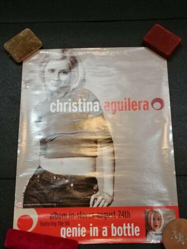 1999 Christina Aguilera Promo Genie in Bottle Album Release Poster Record Store