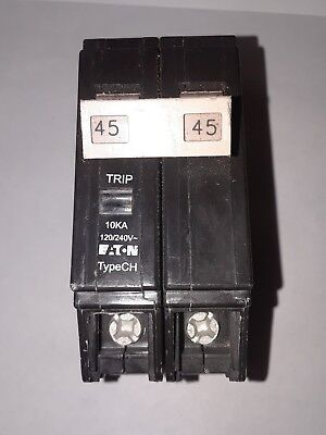Eaton Cutler Hammer Chf245 45 Amp 2 Pole 120240v Type Ch Circuit Breaker