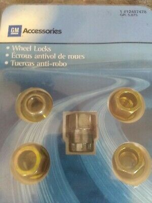General Motors Wheel Lock Set of 4 for GM Vehicle with Key Brand New For Sale