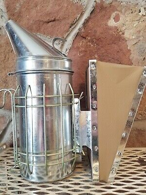 Bee Hive Smoker With Heat Shield Beekeeper Beekeeping Equipment