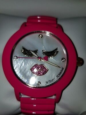 """NWT Betsey Johnson """"WINK""""  Dial Expansion Strap Watch BJOO567-31"""