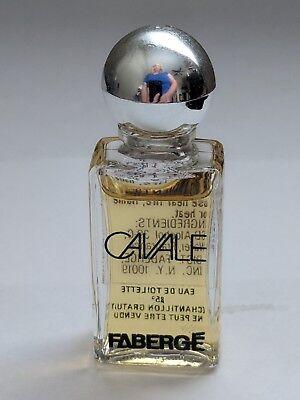 Vintage Faberge Cavale Eau De Toilette Mini .33 oz 80% Full, used for sale  Phillipsburg