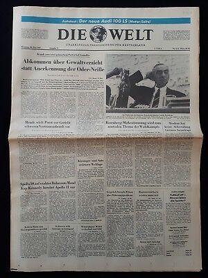 DIE WELT TAGESZEITUNG vom * 20. Mai 1969 * (RAUMFAHRT, Apollo 10 und 11) B 163