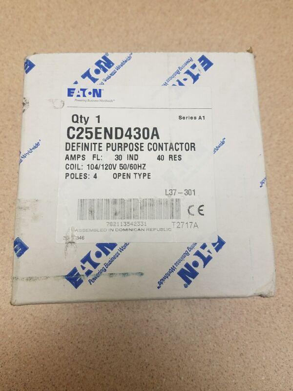 NEW EATON DEFINITE PURPOSE CONTACTOR, C25END430A