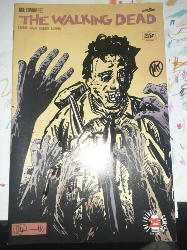 The Walking Dead #163 Variant original artwork of  Leatherface Texas Chainsaw