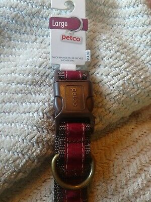 Petco Large L Adjustable Dog Collar Red And Brown