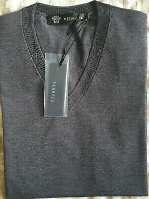 Versace V-neck Jumper - Made In Italy - Brand New