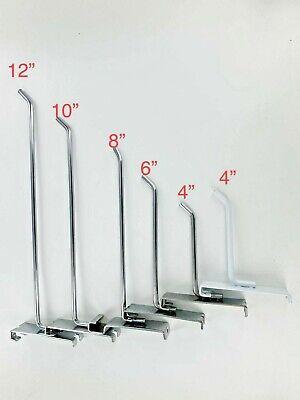 Gridwall Hook 4 6 8 10 12 Chrome White Grid Wall Hooks Peg 25 50 100 Pcs