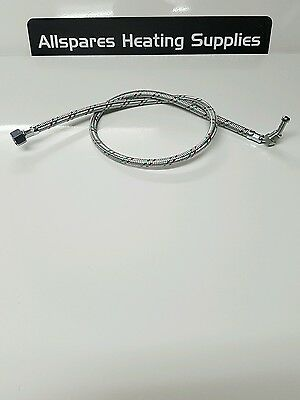 Flexible oil line hose 1/4 inch male elbow x 3/8inch female - Suits riello