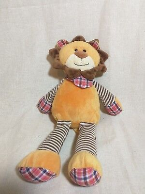 Jellycat Lion soft toy checked neckchief  striped comforter plush approx 14""